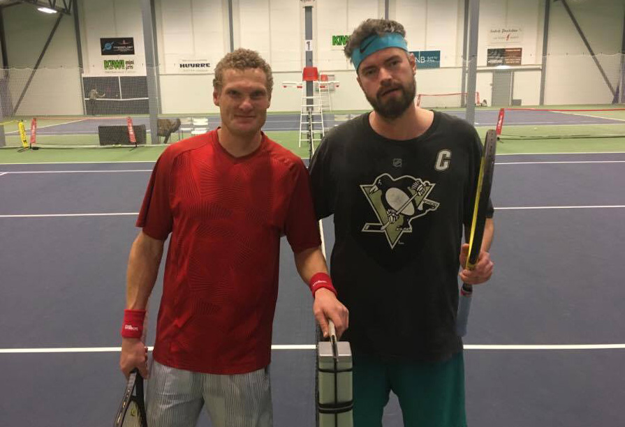Finalistene i single kampen Daniel Tomter og Henrik.