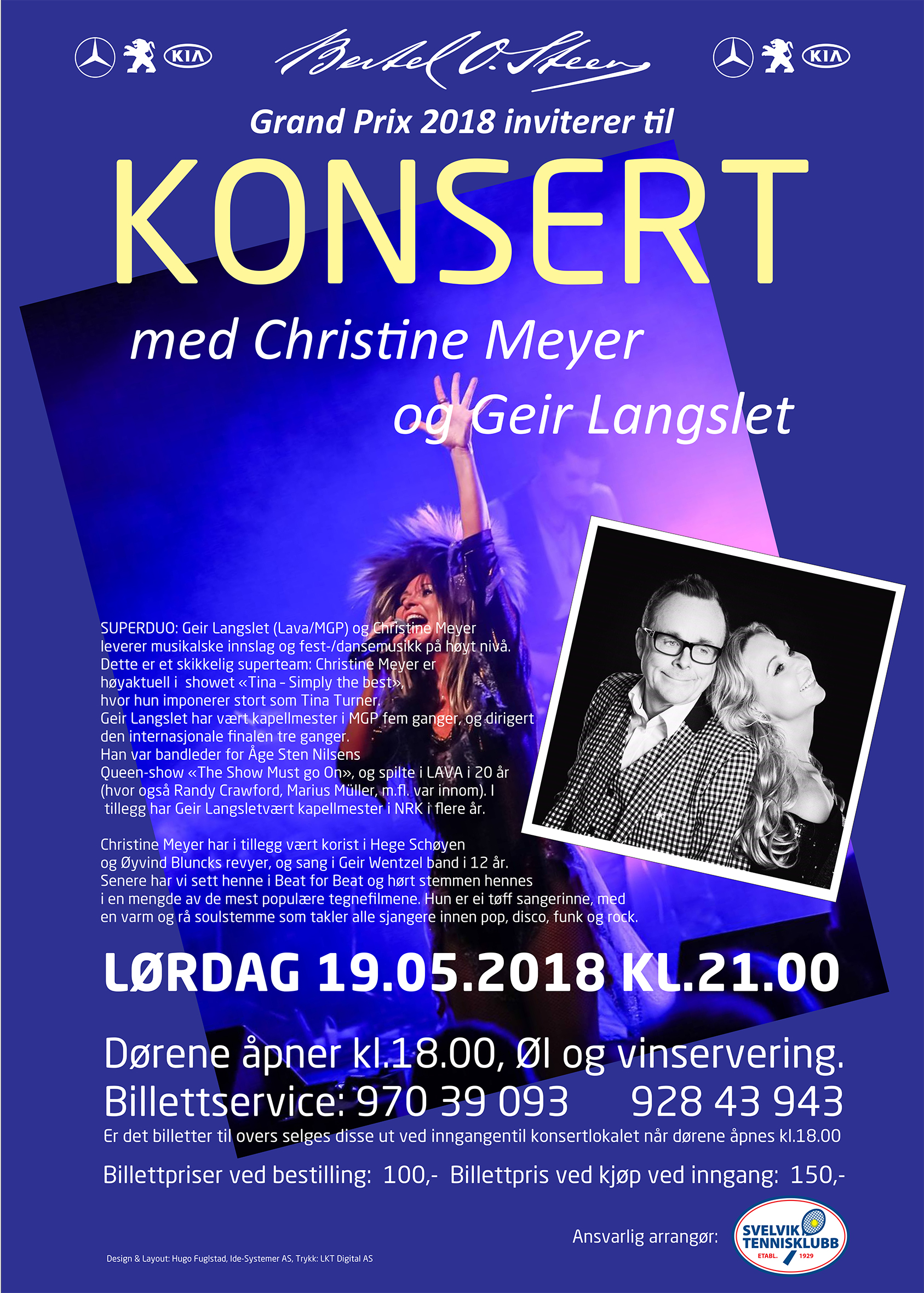 Bertel O Steen Grand Prix presenterer konsert