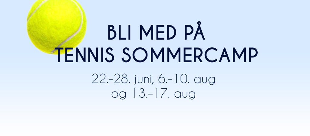 Tennis sommercamp 2018
